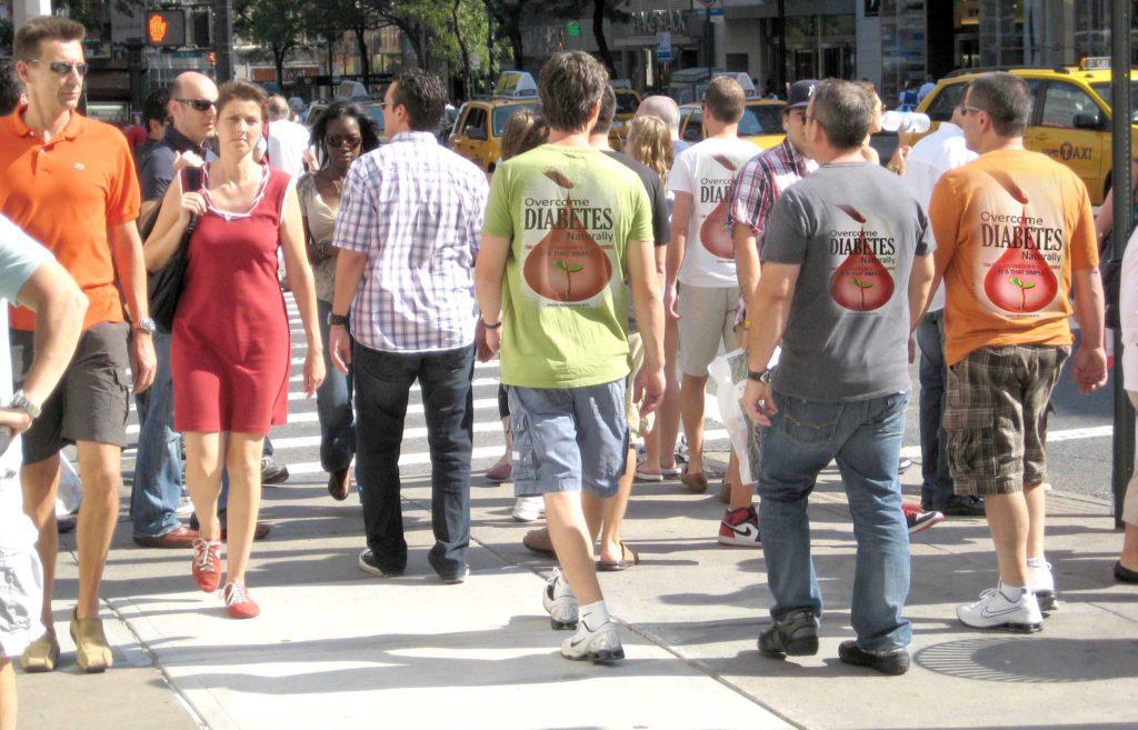 Diabetes fighters walking for diabetes cure